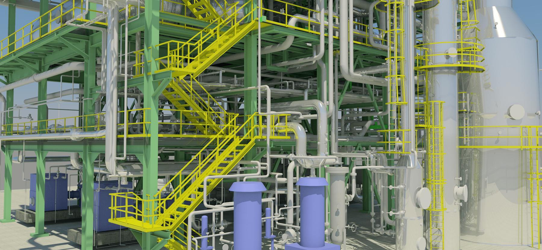 Impianto MC2 - Modello 3D da Scansione Laser