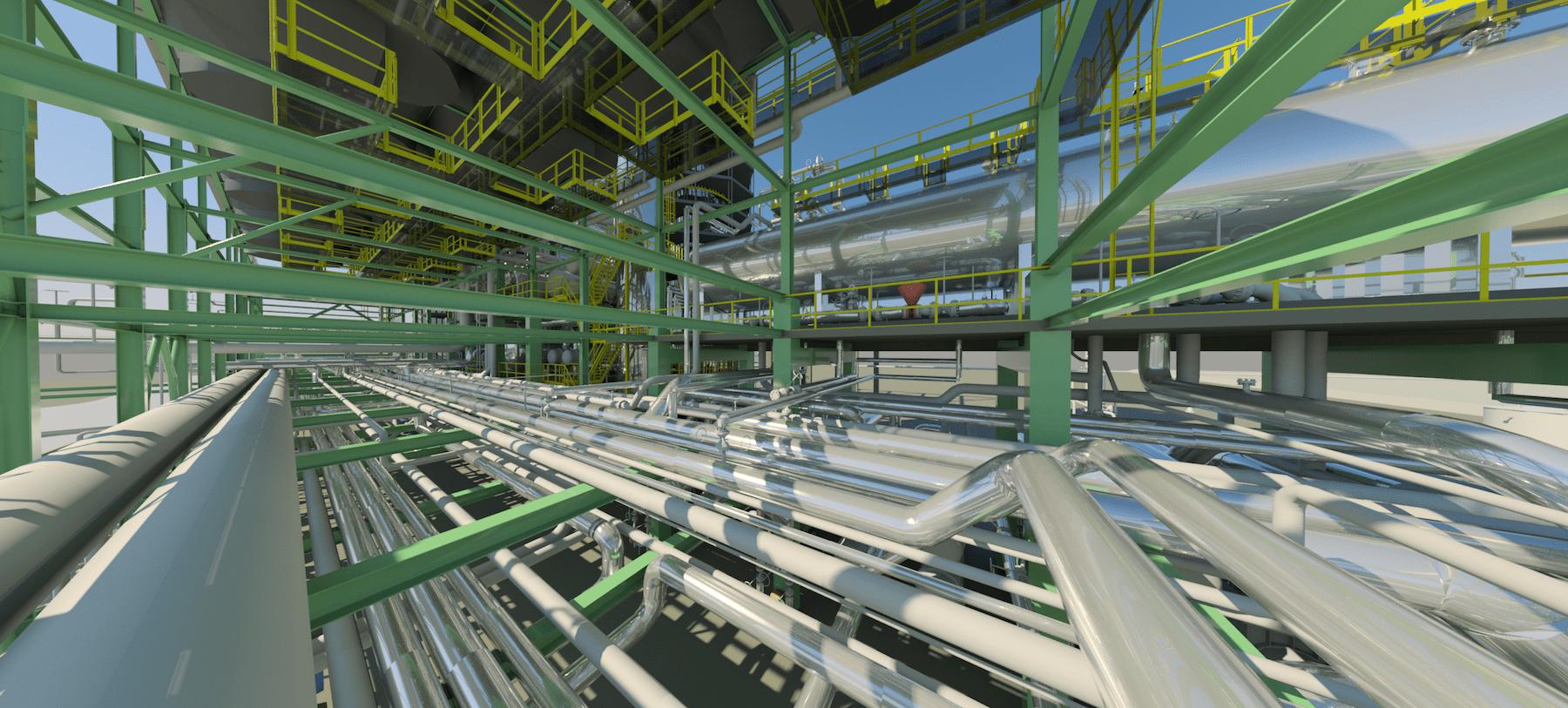 Impianto RT2 - Modello 3D da Scansione Laser