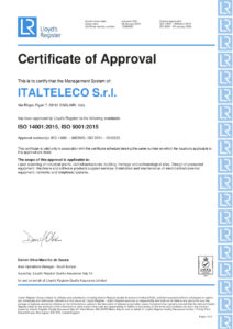 Certificate of approval ISO